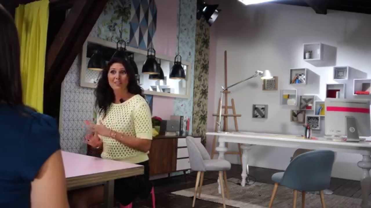 l 39 atelier d co interview d 39 aur lie hemar france t l visions 1 re youtube. Black Bedroom Furniture Sets. Home Design Ideas