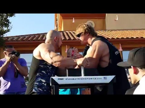 Chris Chandler vs Matt Mask (Left hand) @ WAL Armwrestling Riverside 2016