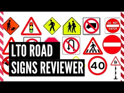 LTO Exam Reviewer Road Signs  (2019)