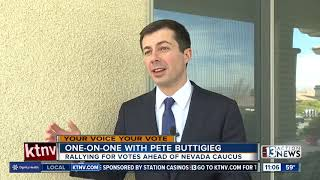 Pete Buttigieg speaks in Las Vegas