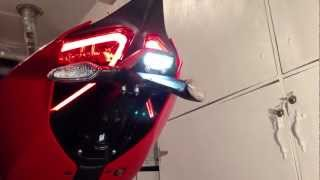 "Diy: ""how To"" Carbon License Plate Holder And Led Euro Turn Signal  Install. (ducati 1199 Panigale)."