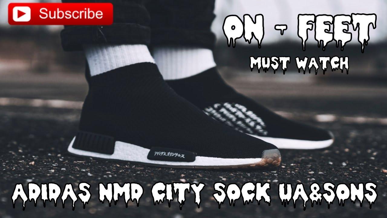 94852328a ADIDAS NMD CITY SOCK UNITED ARROW   ON-FEET   MUST WATCH   UA SONS ...