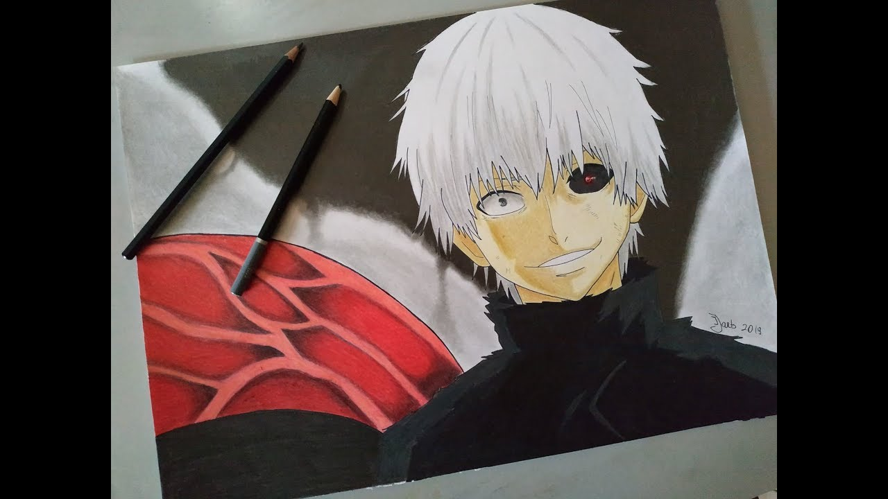 Drawing Ken Kaneki White Hair From Tokyo Ghoul Ɲ±äº¬å–°ç¨® Èーキョーグール Youtube
