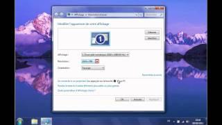 Windows 7 - Regler l affichage de l ecran