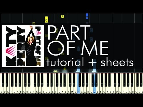Katy Perry - Part of Me - Piano Tutorial - How to Play + Sheets