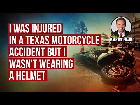 I was injured in a Texas motorcycle accident but I wasn't wearing a helmet can I recover damages?