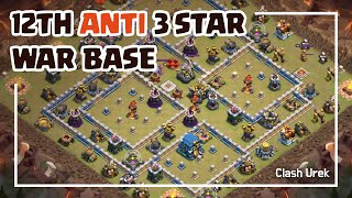 [#25] TH12 Anti 3 Star War Base + Replays_Clash of Clans_2019