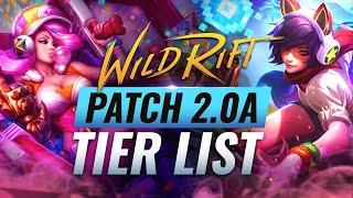 BEST Champion TIER LÏST - Wild Rift Patch 2.0a (LoL Mobile)