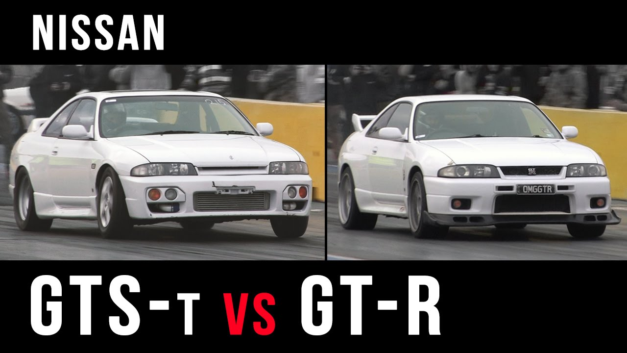 Nissan R33 Skyline Gts T Vs Gt R Youtube