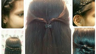 5 Easy Hairstyles in 1 min | Simple Everyday Hairstyles for girls at home for college , work ,school