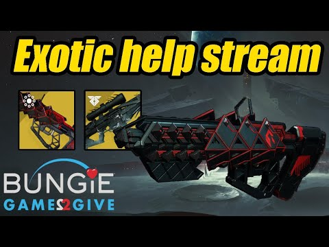 Destiny 2 | Exotic weapon ( Outbreak And Whisper PS4) Help Charity Stream