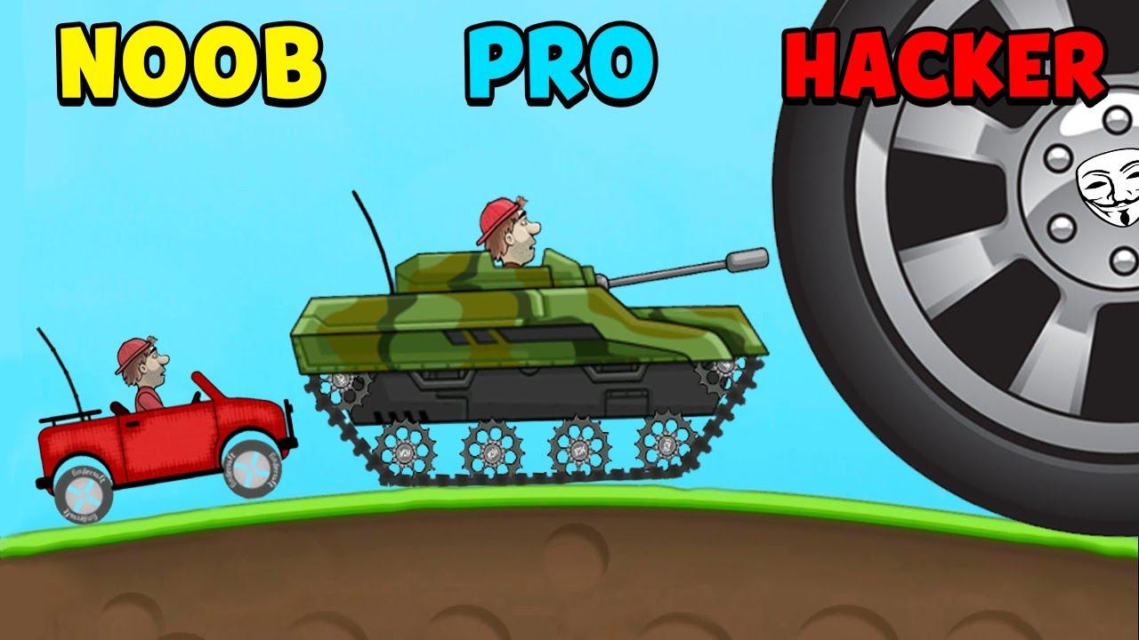 Download NOOB vs PRO vs HACKER - Hill Climb Racing