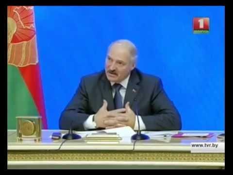 Пытанне Аляксандру Лукашэнку / Question to Lukashenka