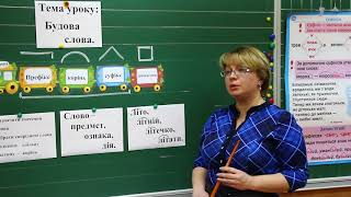 Урок української мови для 3 кл.(рос.мова навчання). Будова слова.