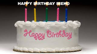 Rieko - Cakes Pasteles_1218 - Happy Birthday