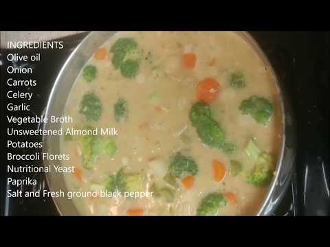 "Vegan Potato Broccoli ""Cheese"" Soup"