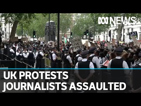 Tens of thousands march in London, two Australian journalists assaulted in protests | ABC News Two Australian journalists have been assaulted in separate incidents while covering anti-racism protests in London. Nine News Europe correspondent Sophie ..., From YouTubeVideos