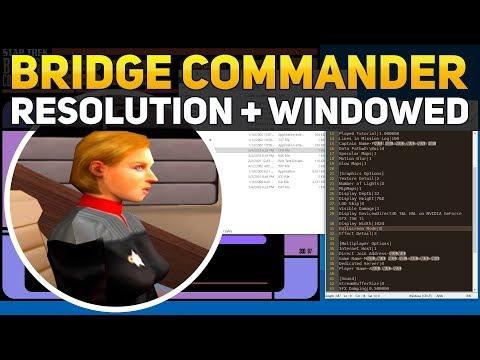 Star Trek Bridge Commander Enable Widescreen + Windowed Resolution Settings 1280x720 1920x1080