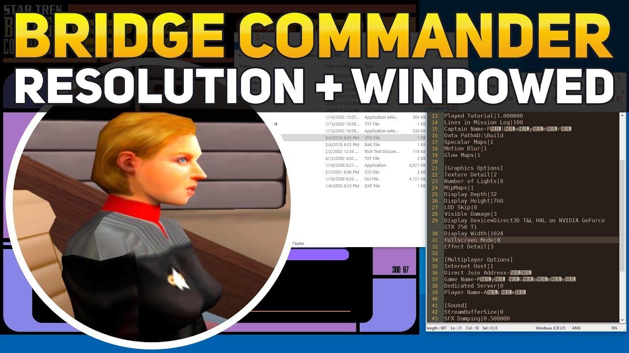 Star Trek Bridge Commander Enable Widescreen Windowed Resolution