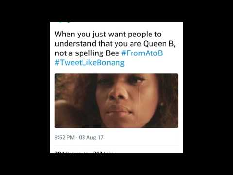 From A To B. Twitter drags Bonang Matheba over new book filled with grammatical errors.