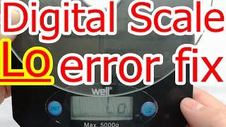 rd #175 How to Fix Digital Scale Lo error message