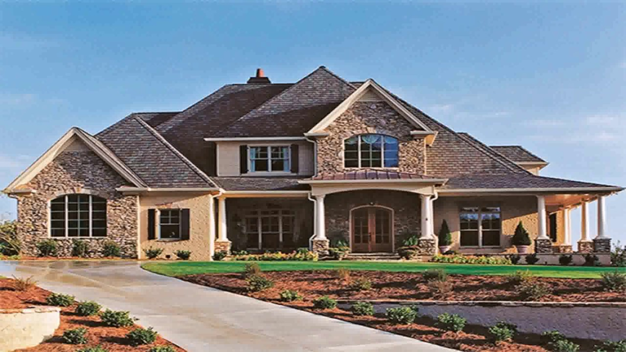 Modern American Style House Plans - YouTube