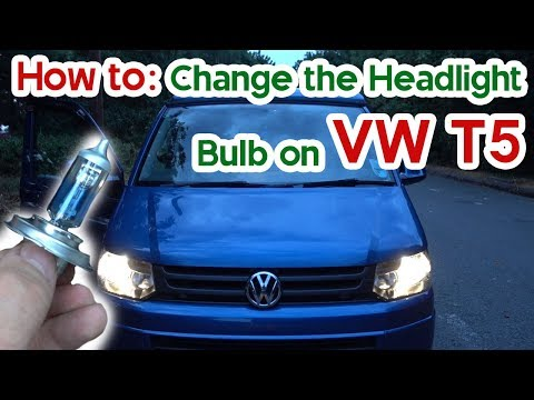 How To Change Headlight Bulb VW T5 - Volkswagen Transporter 5