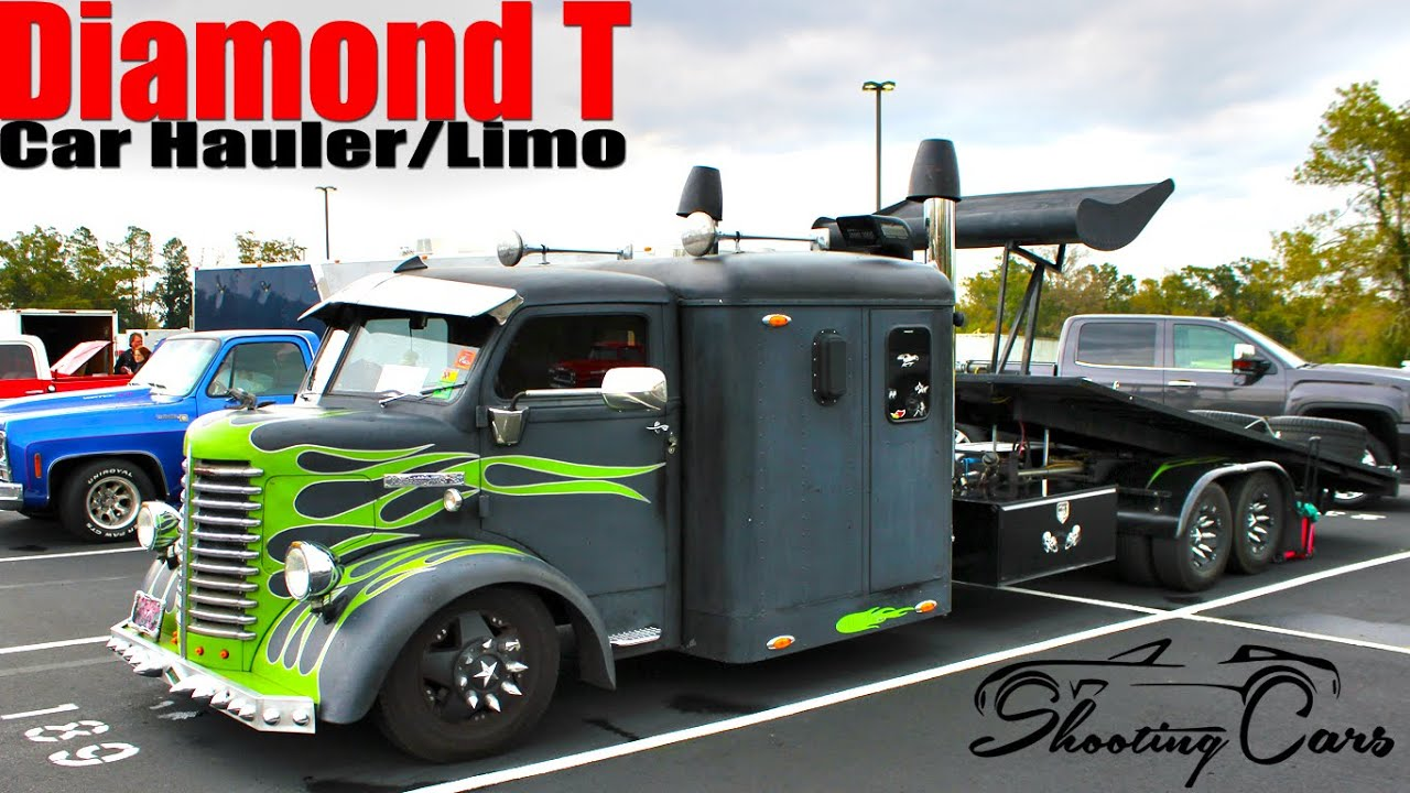 Diamond T Car Hauler Luxury Limo Inside Twisted Custom Outside