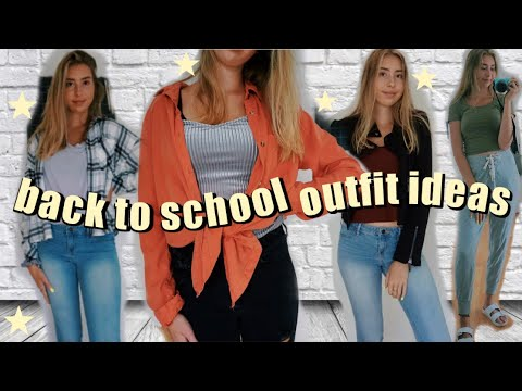 [VIDEO] - CASUAL BACK TO SCHOOL OUTFIT IDEAS for COLLEGE AND HIGH SCHOOL  cute and comfy REALISTIC outfits! 8