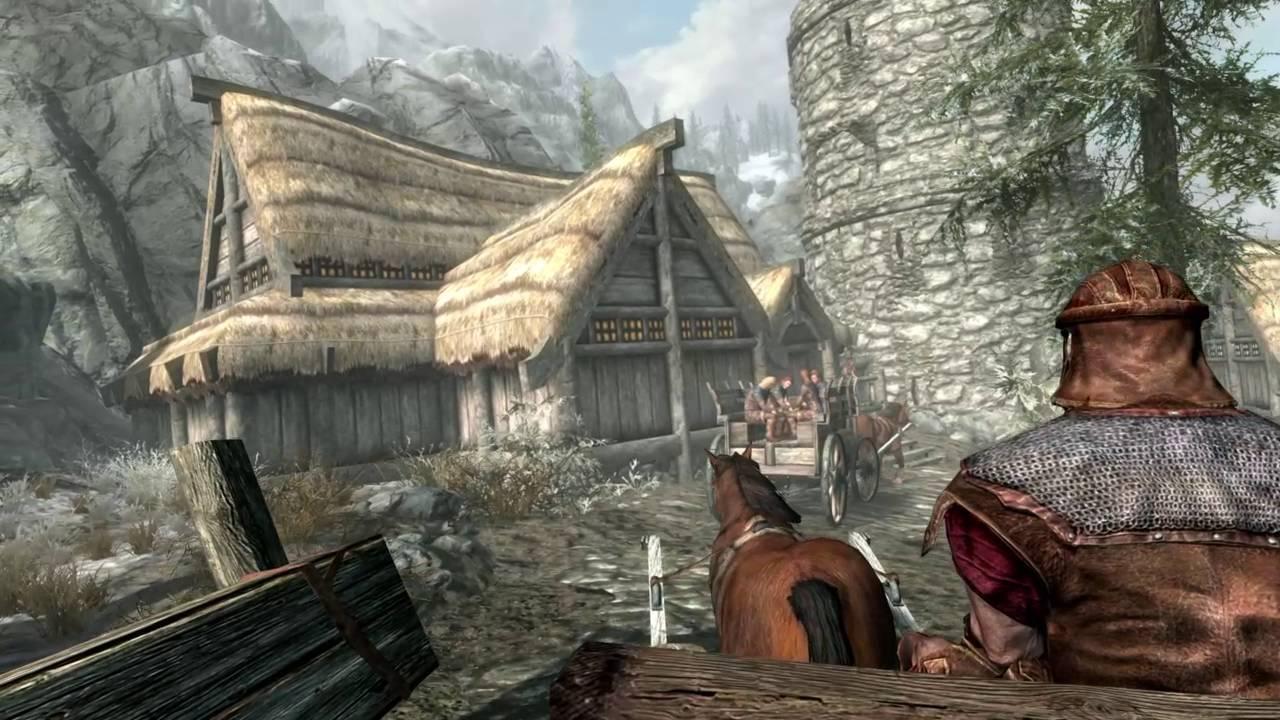 Elder Scrolls V Skyrim : Opening Scene & Gameplay First ...