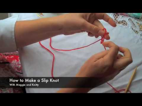 How to Knit: Slip Knot
