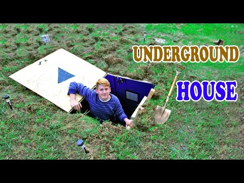 Underground House  DIY  How to build a house under the ground