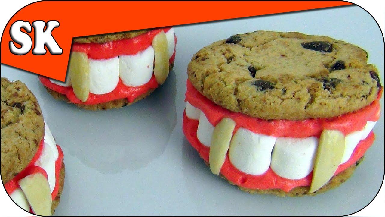 vampire choc chip cookies - halloween trick or treat, treat - youtube