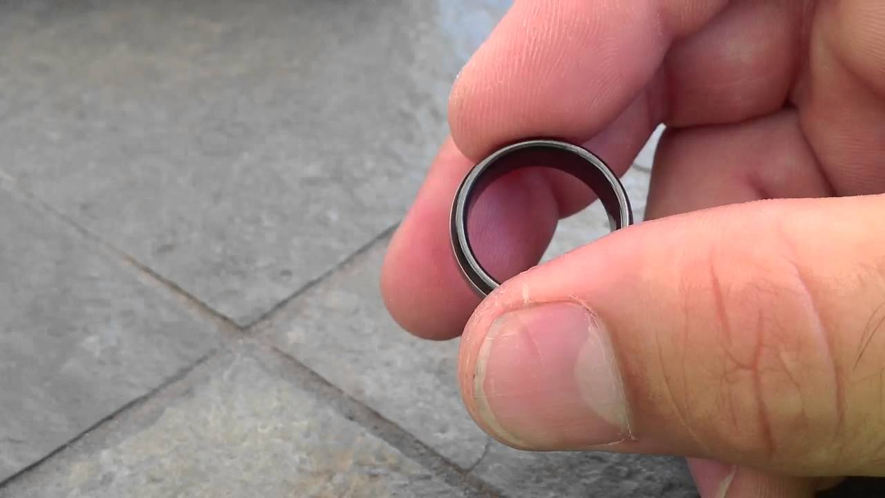 Black Zirconium with Titanium Ring - YouTube