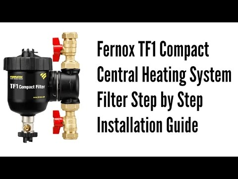 Fernox TF1 Compact Central Heating System Filter Step by Step ...