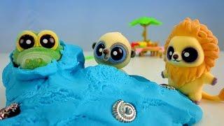 Юху и его друзья: Парк аттракционов! Игры с друзьями. Игрушки Юху.(Три веселых друга Юху, Лио и Смайли - герои мультфильма
