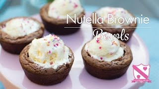 Nutella Brownie Bowls - In The Kitchen With Kate