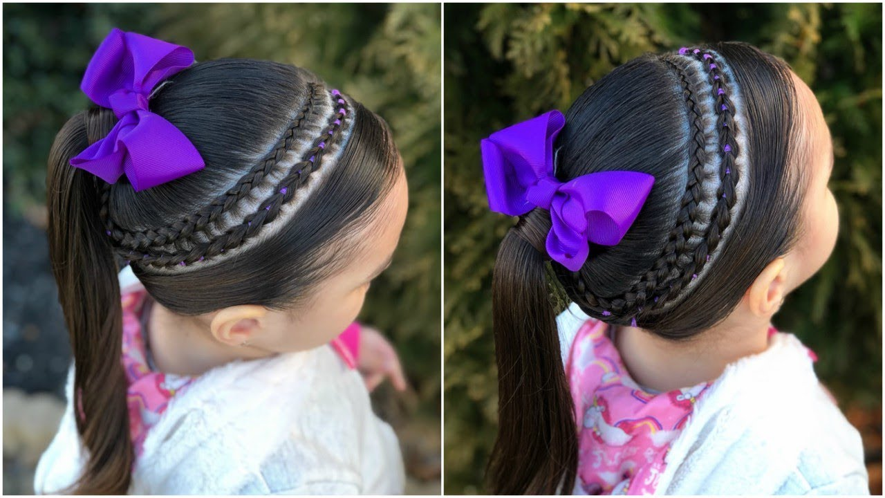 Peinado Para Ninas Trenza De Lado Con Mini Trenza Pullthrouh Lph