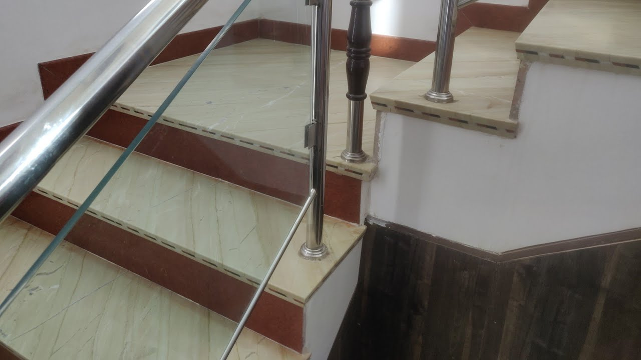 Duplex House Indian Marble And Granite Staircase Design With Railing Design Price Youtube