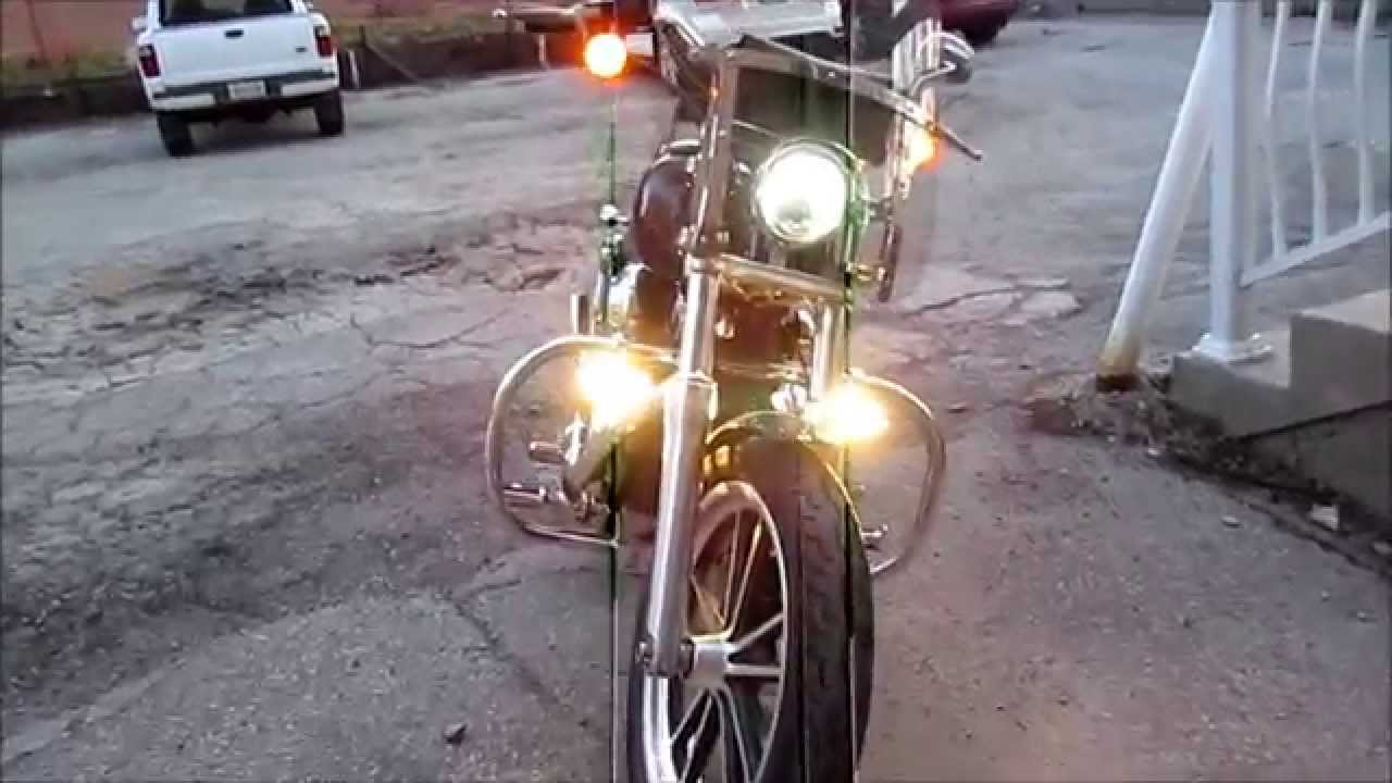 Harley Engine Guard Fog Lamps Youtube