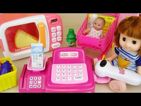 Thumbnail: Baby doll mart register and micro oven food toys play