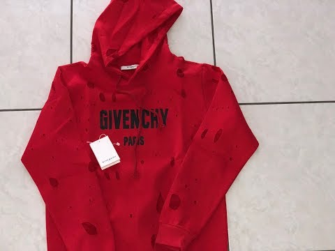 Red Givenchy Paris Hoodie unboxing