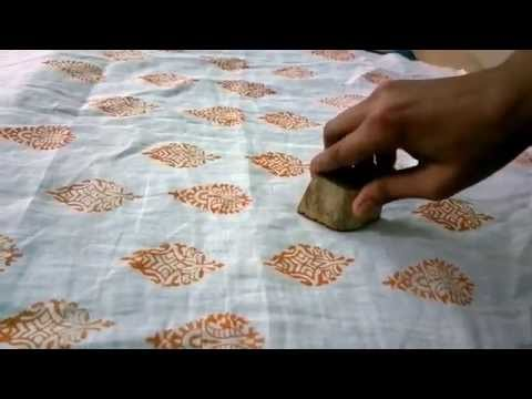 Hand Block Printing Using Wooden Blocks - A Tutorial by DesiCrafts