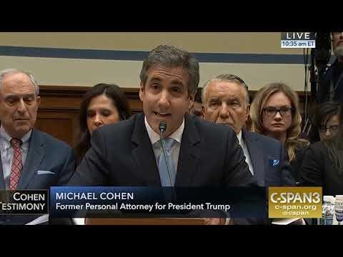 Oversight Committee Michael Cohen's Full Testimony