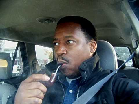 Smoking pipe on the way to work
