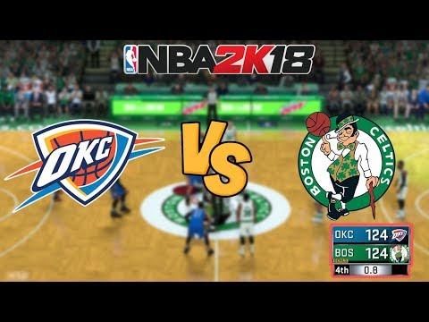 NBA 2K18 - Oklahoma City Thunder vs. Boston Celtics - GAMEWINNER?! - Full Gameplay