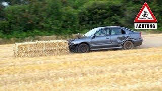 Auto vs. Strohballen - Auspuff selbst gebaut | Dumm Tüch