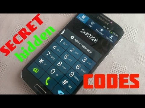 Samsung Galaxy S4 SECRET CODES (VIRAL)