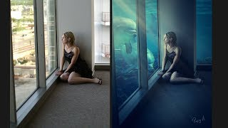 Photoshop Underwater Effects Photo Editing Tutorial Processing