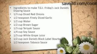 Secret Recipe - How To Make T.g.i. Friday's Jack Daniels Dipping Sauce (copycat Recipes)